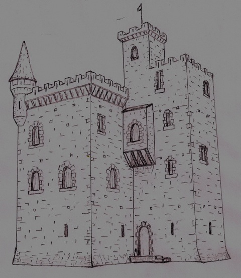 L-Tower Castle sketch