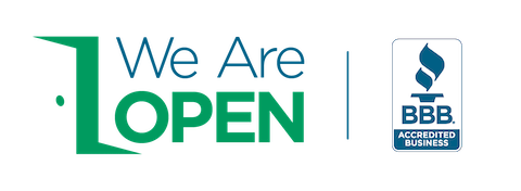 We are open BBB logo