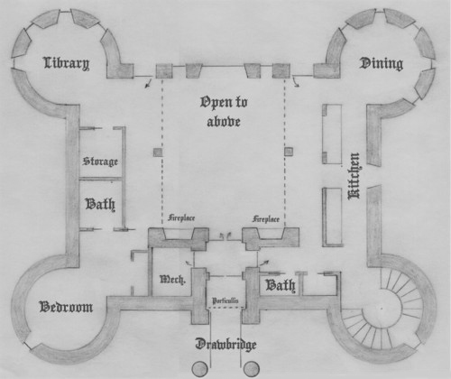 First Floor Four Tower Plan